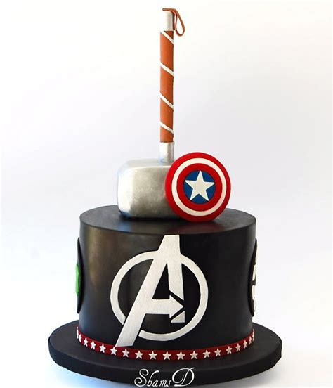The cake was fluffy vanilla with fresh strawberry marvel cake. Avengers Cake - CakeCentral.com
