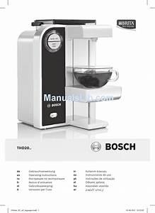 Bosch Thd20 Series Operating Instructions Manual Pdf