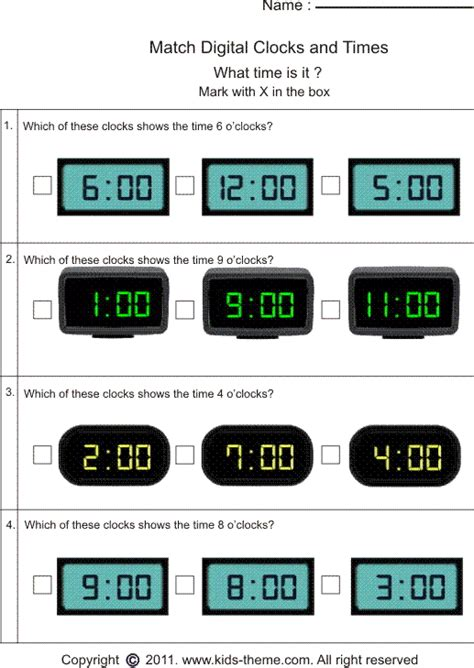 Matching Time With Analog Or Digital Clock  Ideas For School  Pinterest  Digital Clocks