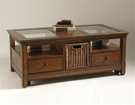 table and storage glass top coffee table with storage