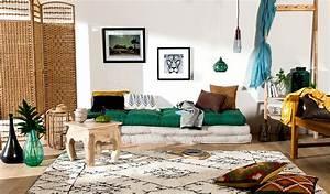 style ethnique chic decryptage marie claire maison With tapis ethnique avec canapé otto s