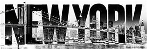 New York Schriftzug : new york in black and white the big apple slim poster popartuk ~ Frokenaadalensverden.com Haus und Dekorationen