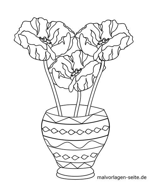 malvorlage blumen  einer vase gratis malvorlagen zum