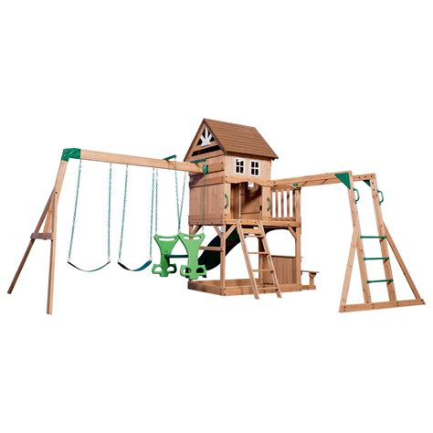 backyard discovery swing set montpelier wooden swing set playsets backyard discovery