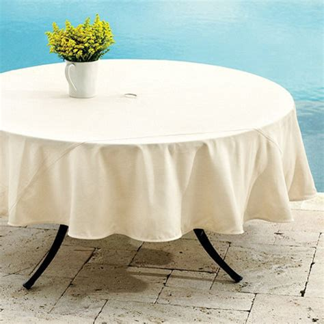Outdoor Tablecloth With Umbrella Uk by Ballard Indoor Outdoor Tablecloth Traditional