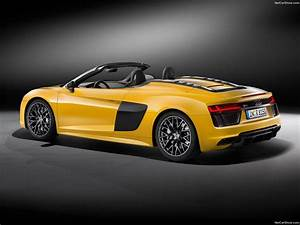 Audi R8 Spyder V10 cars yellow 2017 wallpaper | 1600x1200 ...