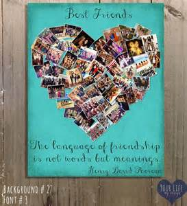 gift for best friends personalized gift photo collage gift for sis