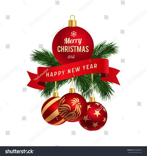 ✓ free for commercial use ✓ high quality images. Merry Christmas Happy New Year Logo Stock Vector 508968667 ...