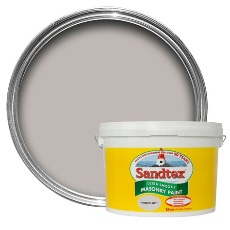 Sandtex Plymouth Grey Smooth Smooth Matt Masonry Paint 10l