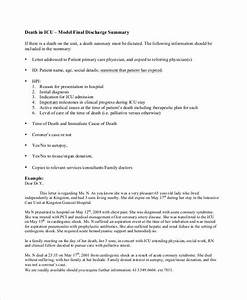 beautiful icu note template images resume ideas With death summary template