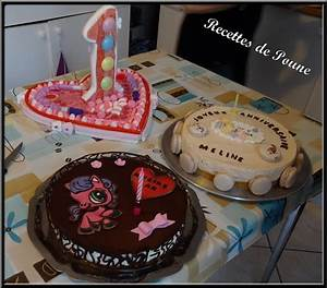 1 An Anniversaire : les gateaux d 39 anniversaire pour les 1 an de ma fille les recettes de poune ~ Farleysfitness.com Idées de Décoration