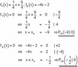 Schnittpunkt Mit X Achse Berechnen : l sungen lineare funktionen teil xiv ~ Themetempest.com Abrechnung