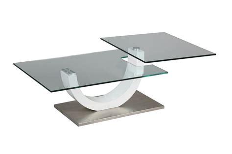 Table Basse Laque Blanc Et Verre Novomeuble