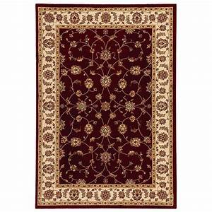 Home Decorators Collection Claire Red/Beige 7 ft. 10 in. x ...