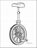 Unicycle Coloring Clip Sketch Abcteach Clipart Paintingvalley sketch template