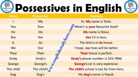 possessives  english english study