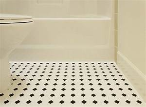 Plumbworld blog what sort of flooring is best for the for Black and white linoleum sheet flooring