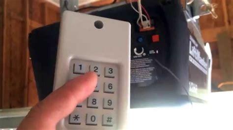 liftmaster universal keyless entry garage door keypad programing tips youtube