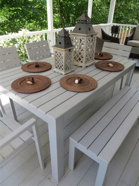Patio Dining Sets With Bench Seating by Falster Ikea I The Looks Of This Outdoor Dining Set