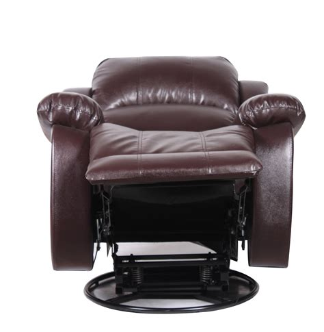 Furniture Brown Leather Comfortable Swivel Chair With by Bonded Leather Rocker And Swivel Recliner Living Room