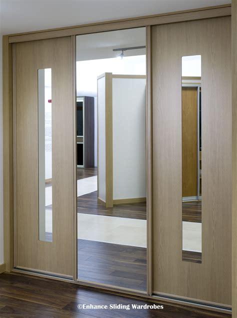 oak  mirror sliding wardrobe bedroom wardrobe
