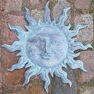 Metall Sonne Für Hauswand : bronzeskulptur kleine sonne mit gesicht als wandrelief kunsthandel ~ Whattoseeinmadrid.com Haus und Dekorationen