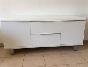 Meuble Bas Blanc Laqué : meuble type buffet laque clasf ~ Edinachiropracticcenter.com Idées de Décoration