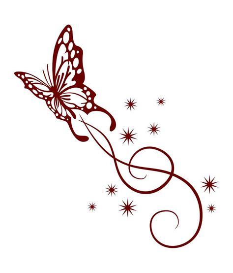 chipakk fancy maroon butterfly swirl wall sticker buy