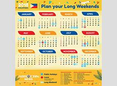Your 2018 Holidays and Long Weekends Calendar ABSCBN News