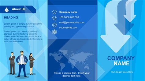 Powerpoint Brochure Templates Company Profile Brochure Template Slidemodel
