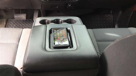 gmc sierra wireless phone charger armrest diy youtube