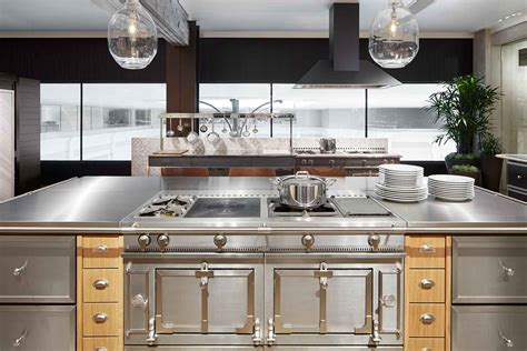 white kitchen with island la cornue cooktops gas electric ranges abt