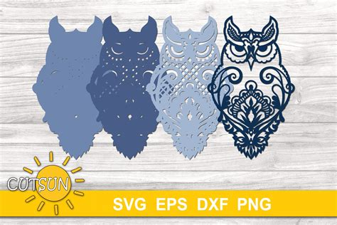 All designs are welded or gr. 3D Layered Owl Mandala 4 layers   3D layered svg (1107170 ...