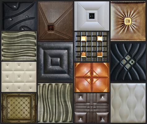 Faux Leather Decorative Tiles For Walls & Ceilings