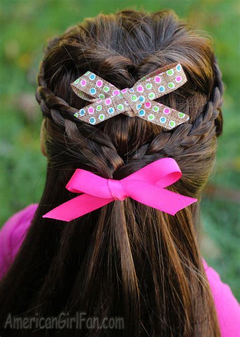 doll hairstyle flip twist  mini braids americangirlfan