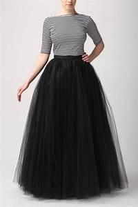 Black tulle skirt Handmade maxi skirt Handmade tutu by Fanfaronada