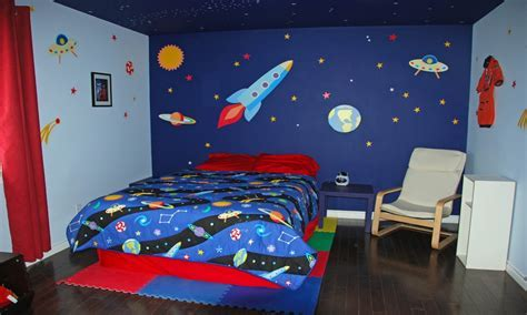 Galaxy themed boys bedroom, modern teenage bedrooms for