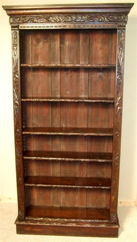 Antique Bookcases Uk by Carved Oak Open Bookcase 245902