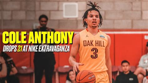 top   recruit cole anthony leads oak hill  blowout
