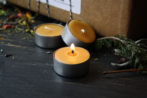beeswax tea lights bulk 100 pure beeswax birthday candles 8 quot tall party candles