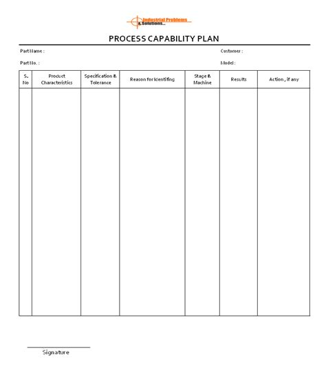 Capability Study Template by Colorful Process Capability Study Template Illustration
