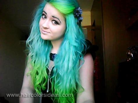 Lime Green Hair Dye Tashas Turquoise And Green Hair