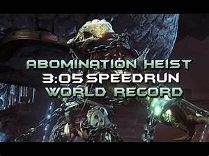 Abomination Heist World Record Speedrun [3:05] - YouTube