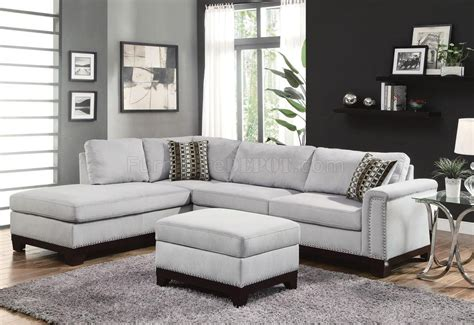 Fabric Loveseats Sale by Sectional Sofa 503615 In Blue Grey Fabric By Coaster