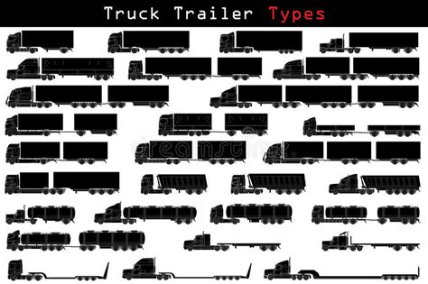 car audio equipment truck trailer types stock vector illustration of freight