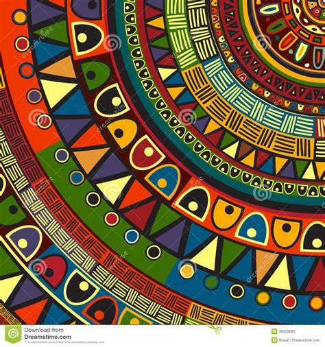tribal colors colored tribal design stock vector image of abstract