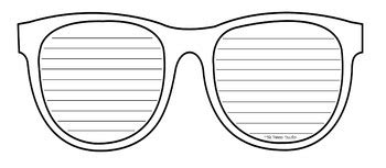 sunglasses writing template by and coffee tpt