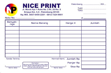 contoh buat invoice terbaru 10