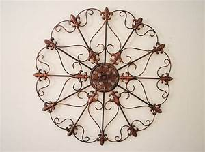 Tuscan fleur de lis hanging metal wall home design ideas for Kitchen colors with white cabinets with tuscan wrought iron wall art
