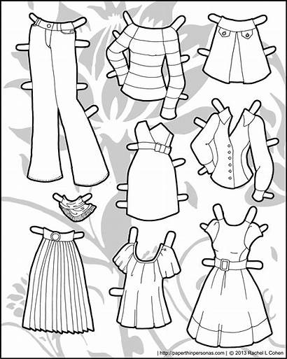 Clothes Paper Printable Dolls Clothing Doll Thin